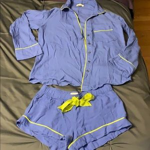 Aerie Periwinkle Sleep Set Size Small